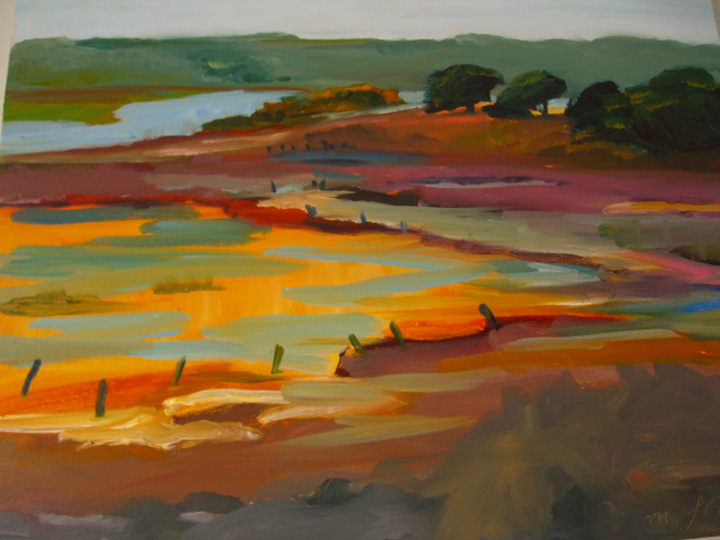 painting of Elkhorn Slough